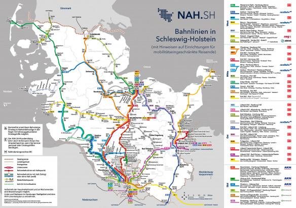 schleswig holstein karte bahn Bahnlinienplan für Schleswig Holstein | NAH.SH